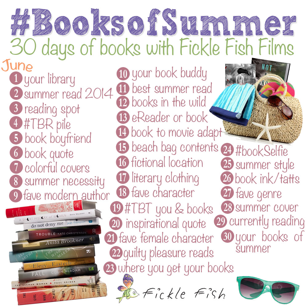 booksofsummer, instagram challenge, photo challenge, fickle fish films,
