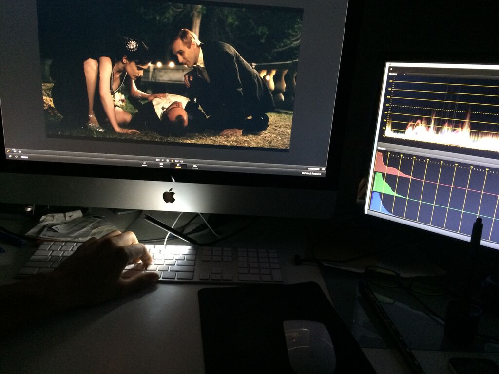 In the editing room