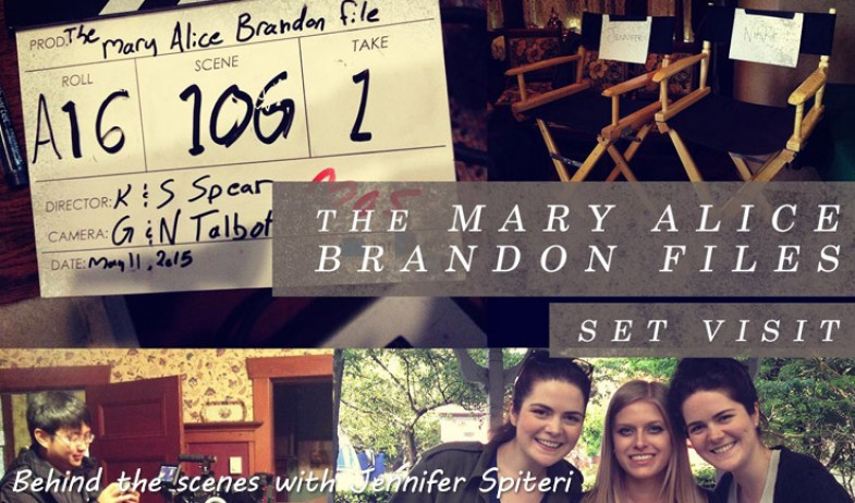 Set visit to THE MARY ALICE BRANDON FILE Twilight Short Film