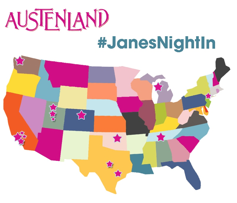 Jane's Night In, #janesnightin, Austenland, Austenland DVD,